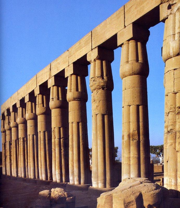 Arquitectura egipcia introducconstruccionesci n a la for Arquitectura egipcia